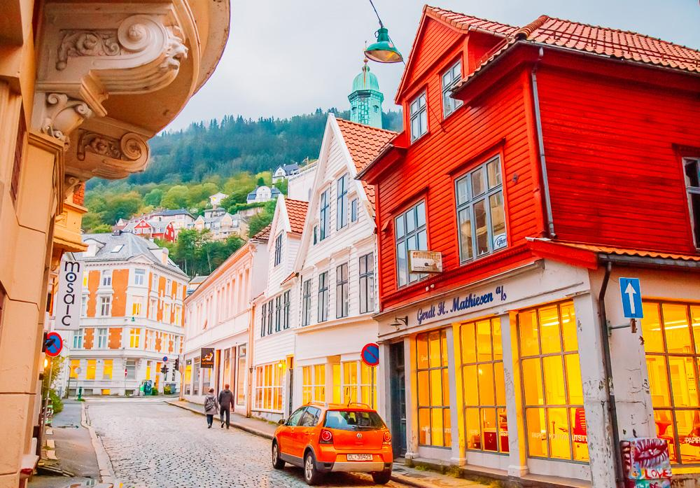 downtown Bergen Norway