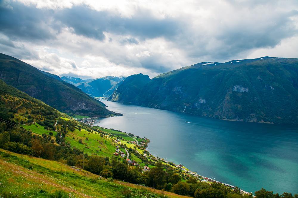 aurlandsfjell view aurlandsfjord bergen norway