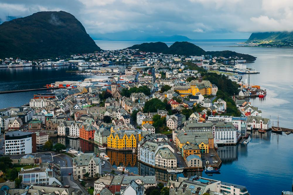 16 Things To Do In Alesund Norway The Most Beautiful Fjord City - Stunning-art-deco-with-spectacular-river-and-city-views