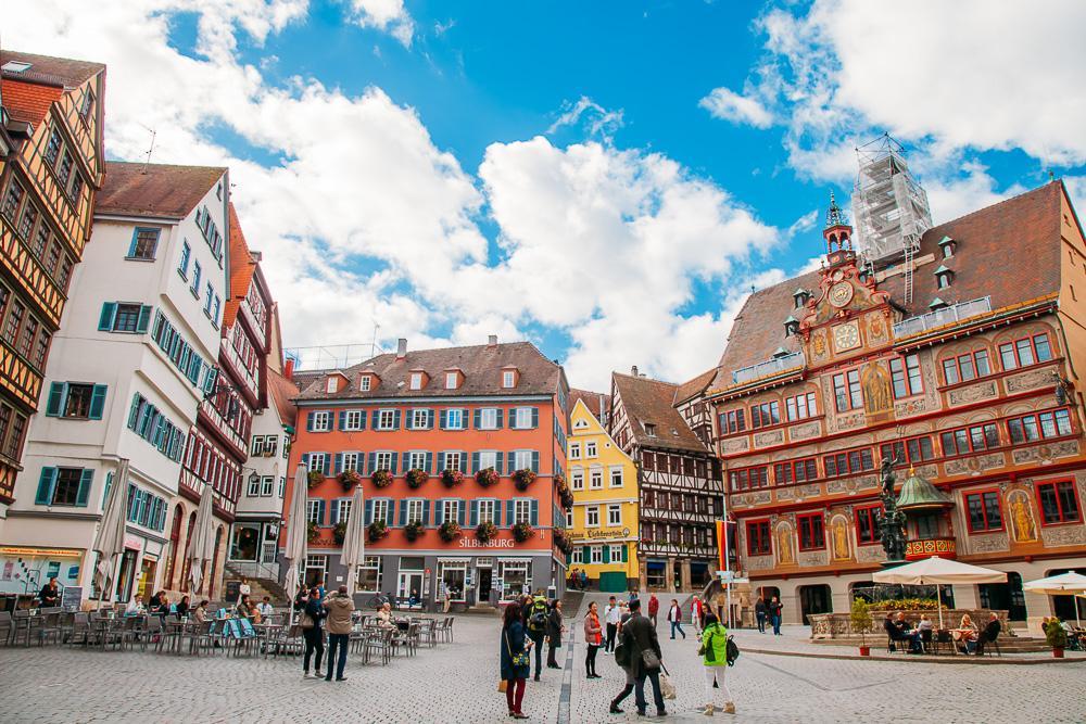 visiting downtown Tübingen Germany Baden Württemberg