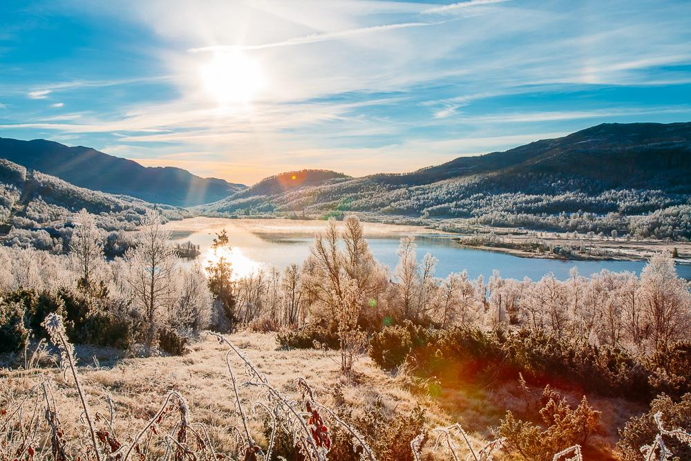 autumn Rauland Norway sunny weather