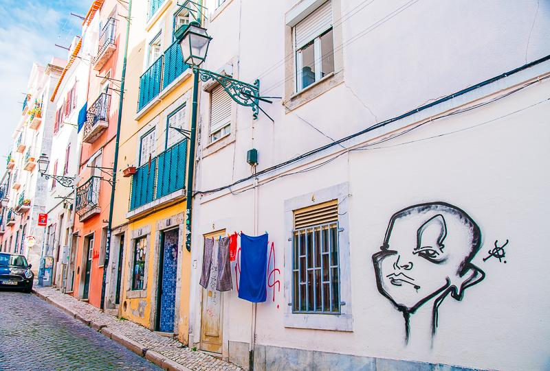 downtown Lisbon street art
