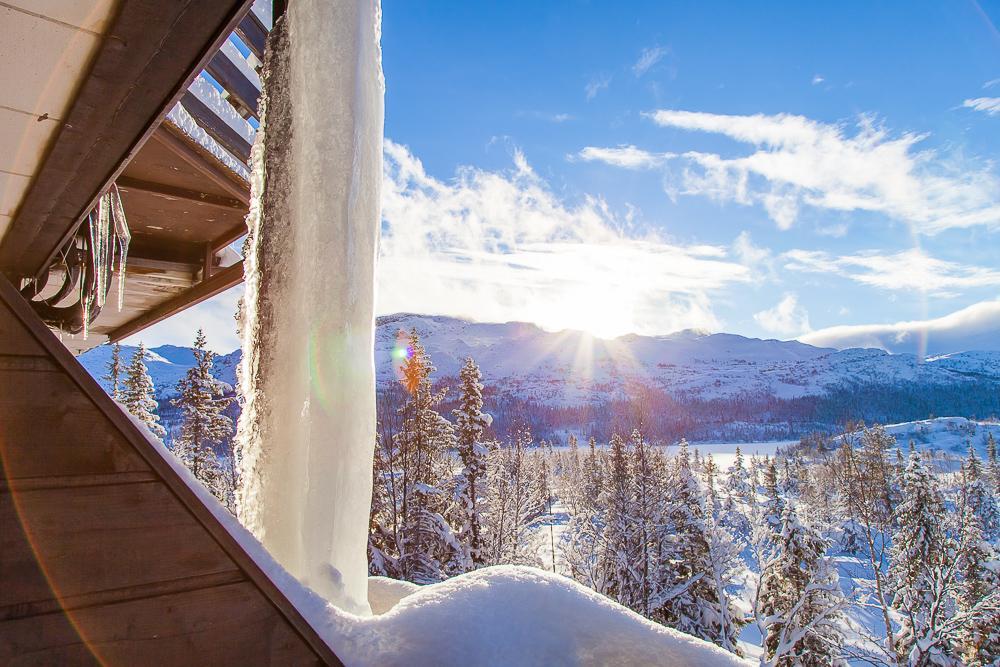 view of Gaustatoppen from Gaustablikk Hotel Rjukan Telemark