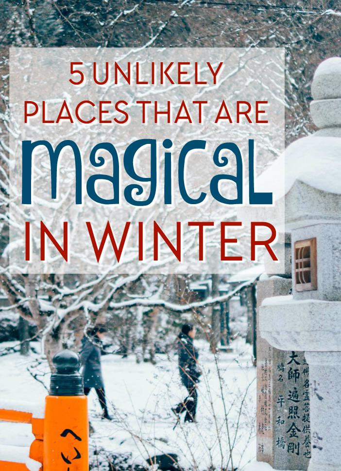 these five places are beautiful in the snow and make for a unique winter holiday!