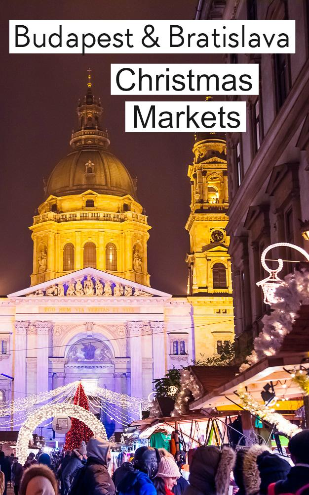 If you're looking for the best Christmas markets in Europe, consider visiting Budapest and Bratislava! They're close enough to be combined in a weekend trip, and their Christmas markets are magical.