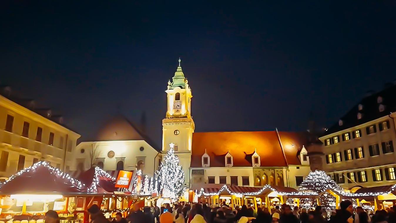 christmas market old town bratislava
