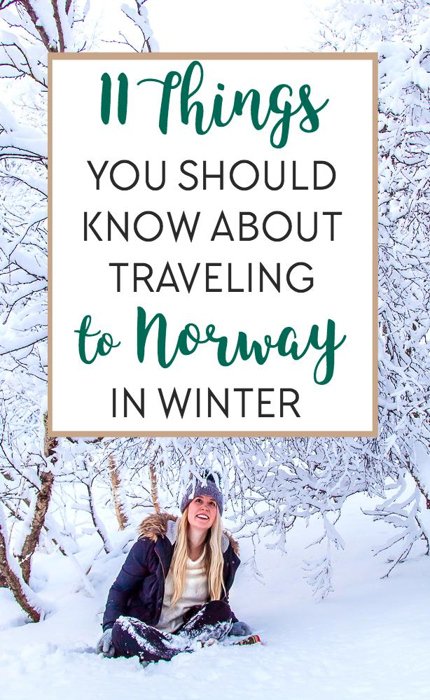 Read this if you're planning on traveling to Norway in the winter - including all my best tips and tricks for winter in my home country!