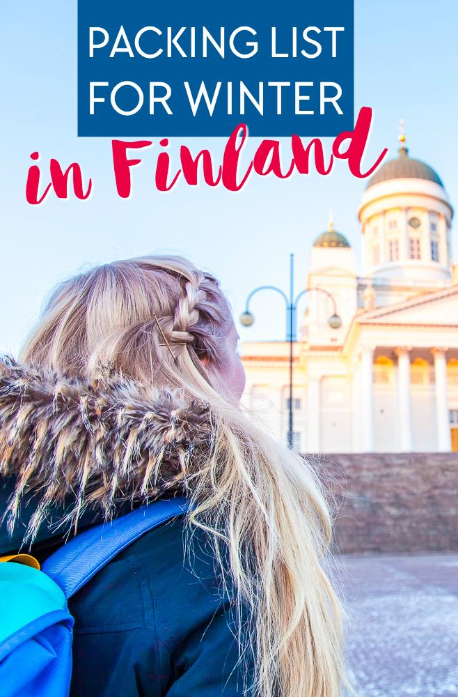 A packing list for traveling to a cold destination in winter - like Finland!