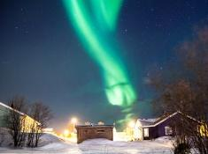 northern lights in abisko sweden lapland photo