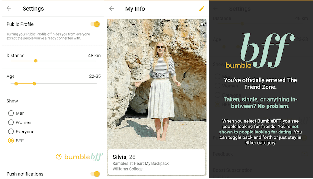 how to use bumble bff to meet travelers and friends when traveling