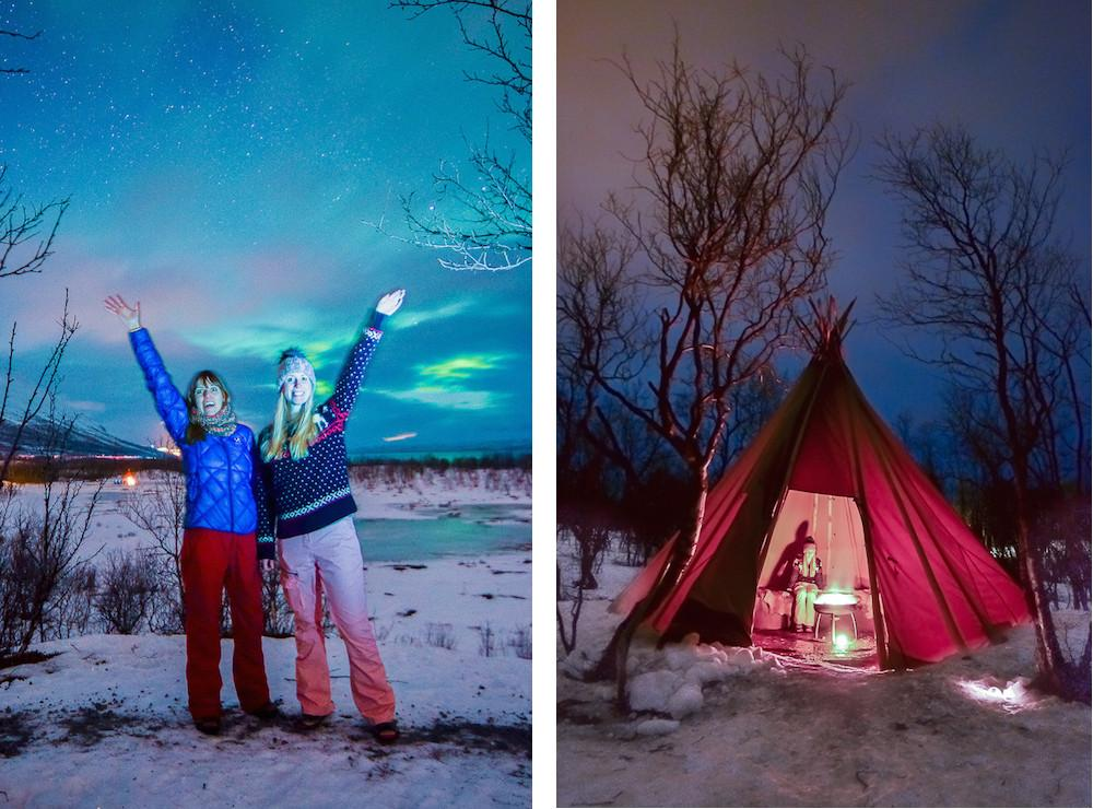 photo tour with lights over lapland aurora