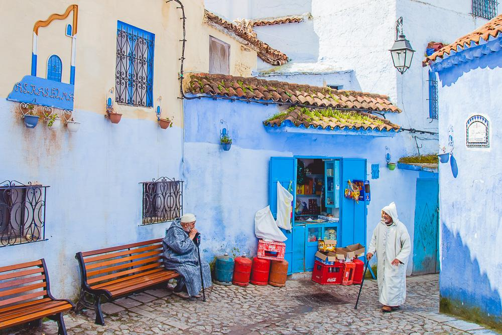 visiting chefchaouen morocco blue city photo