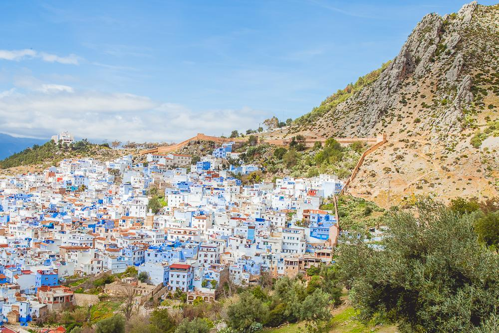 chefchaoen morocco travel blog photo city view