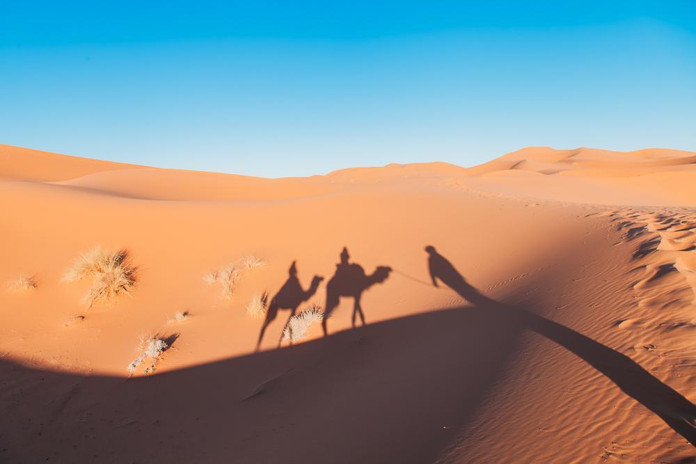 sahara independent camel trek tour merzouga morocco