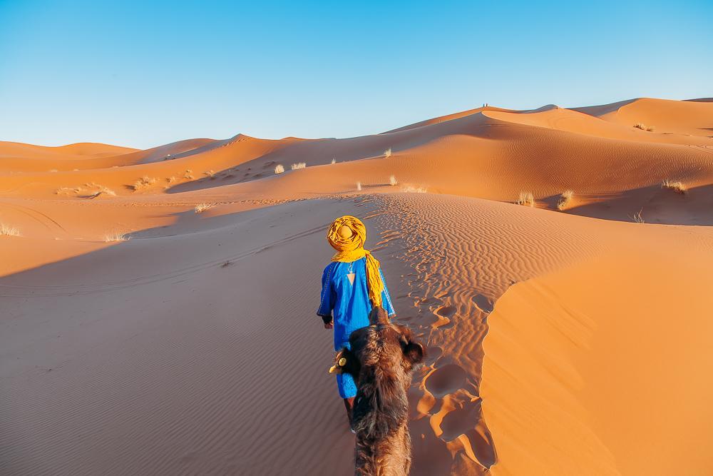 sahara desert camel trek tour merzouga morocco