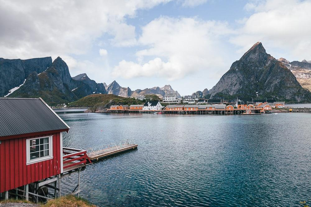 lofoten islands norway in june summer