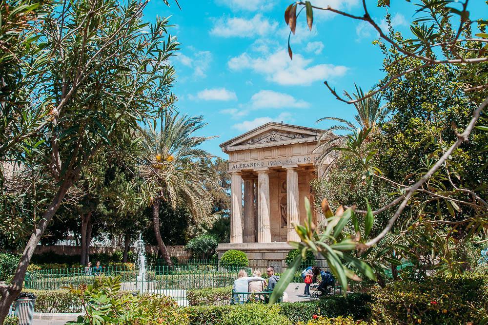garden valletta malta