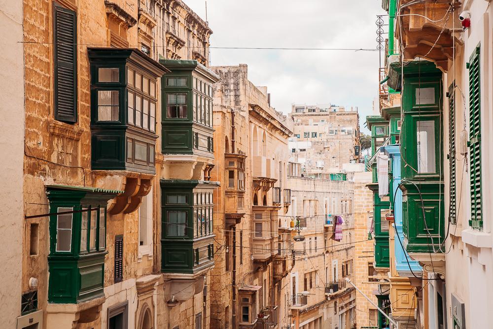 maltese balconies valletta malta