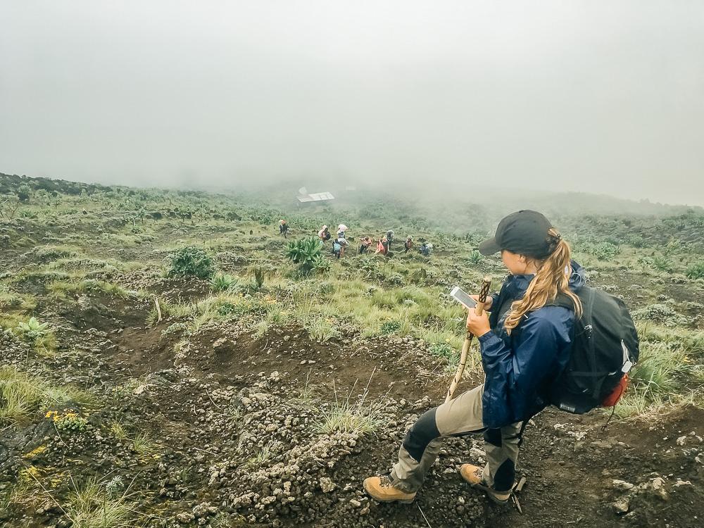 mount nyiragongo volcano trek drc congo hike
