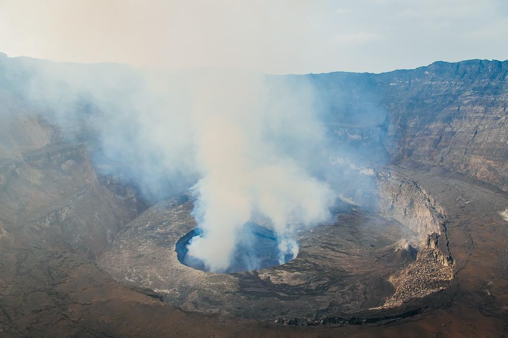 nyiragongo volcano drc congo hike
