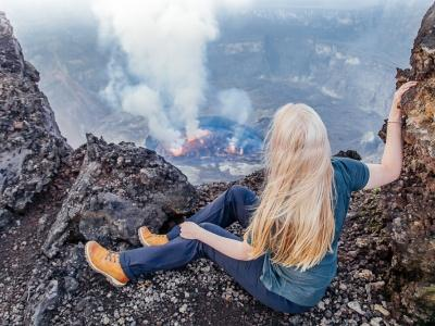 Climbing Mount Nyiragongo Volcano in the Congo