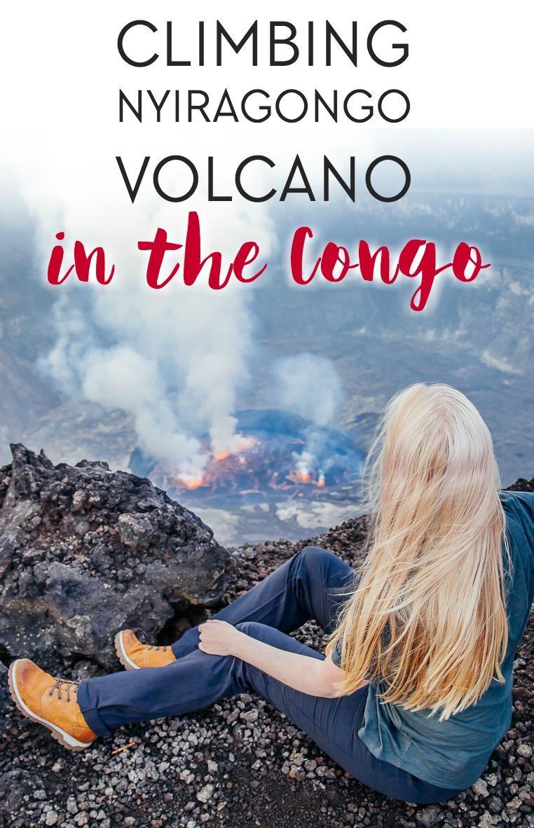 Climbing Mount Nyiragongo volcano in Virunga National Park in the Congo (DRC)