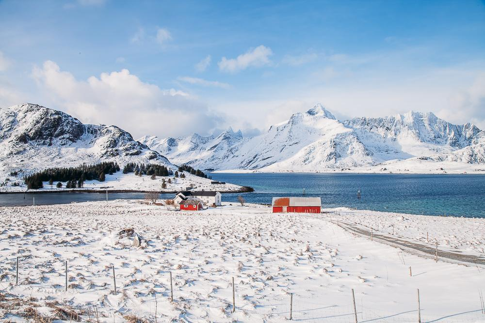 lofoten winter norway snow