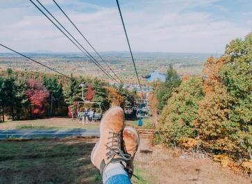 ski lift wachusett worcester fall foliage