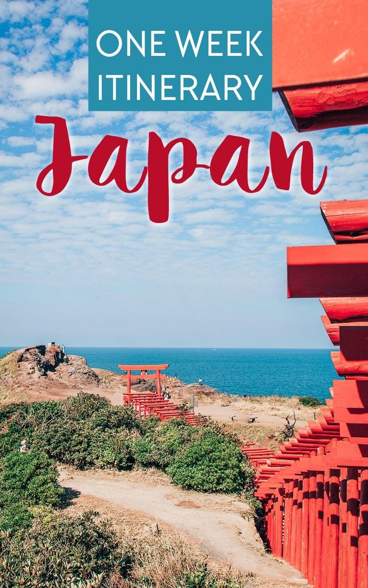 A one week (7 day) itinerary for Japan in a Nutshell, from Tokyo to Yamaguchi