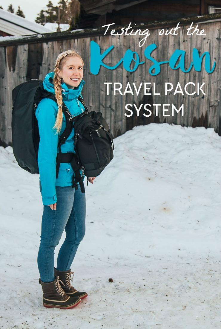 Looking for the best backpacking backpack and daypack? I just tried out the Kosan Travel Pack system and here is my review: