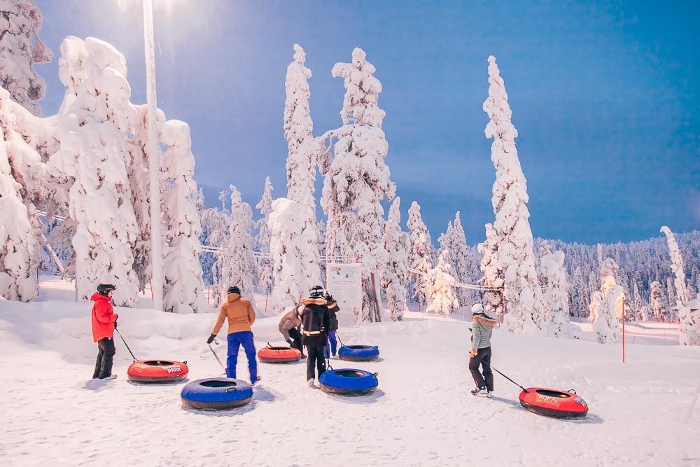 tubing ruka ski resort lapland finland