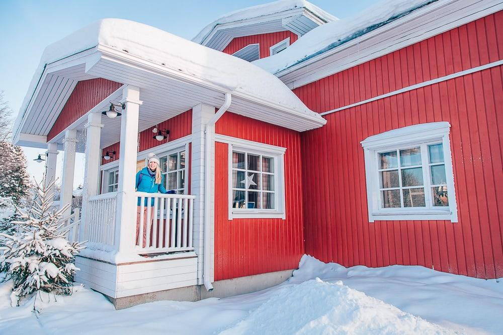 day as a finn ruka finland winter santa's cottage