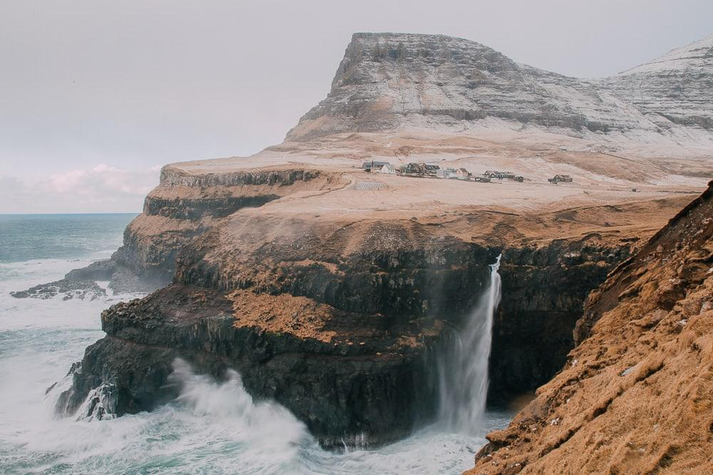 gásadalur waterfall faroe islands