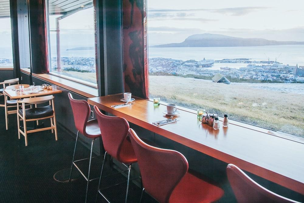 hotel føroyar restaurant view