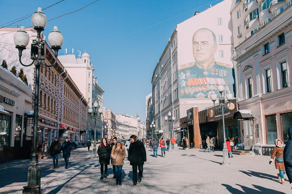 old arbat street moscow