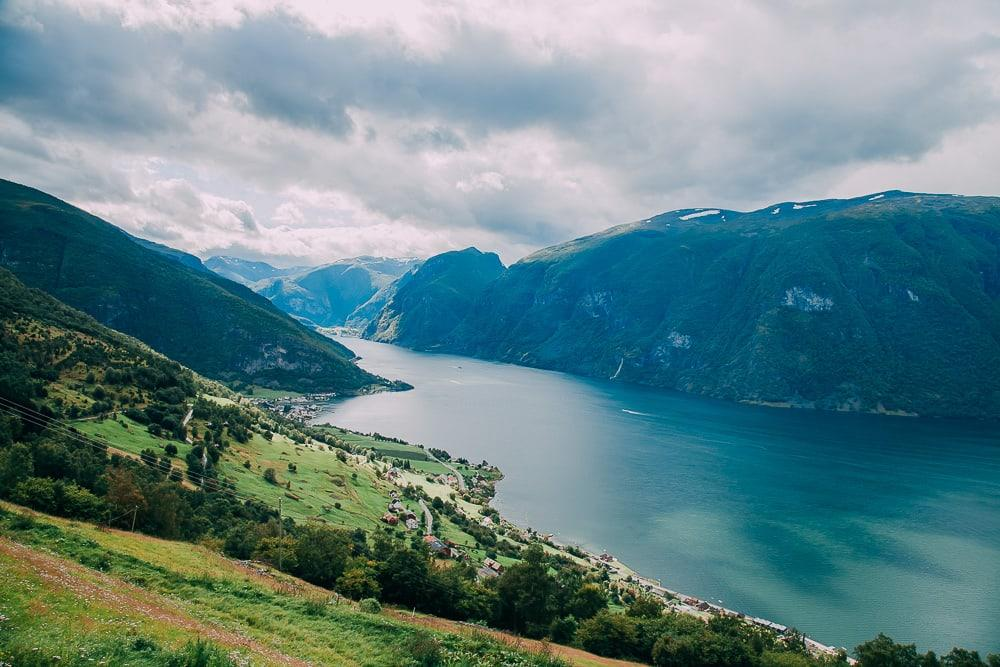 aurlandsfjell view sognefjord bergen norway