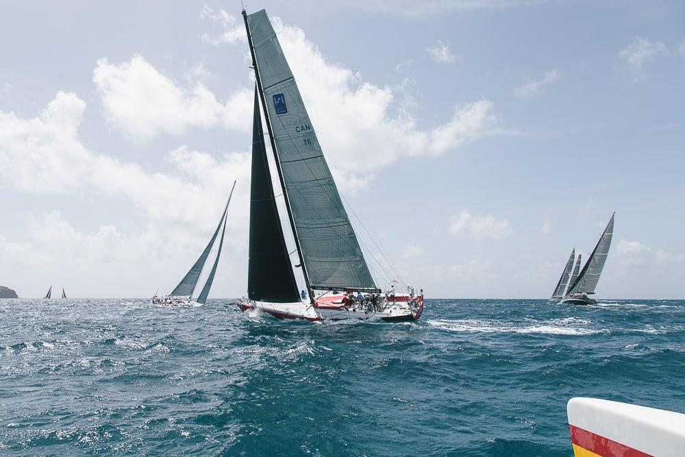 chase the race antigua sailing week with wadadli cats catamaran
