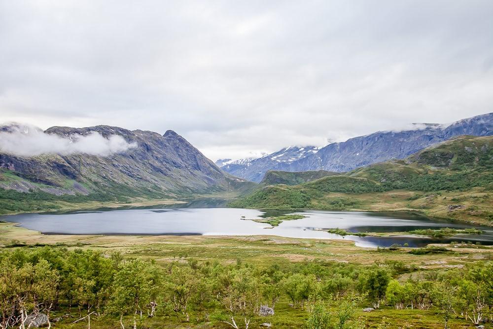 Jotunheimen National Park mountain lake