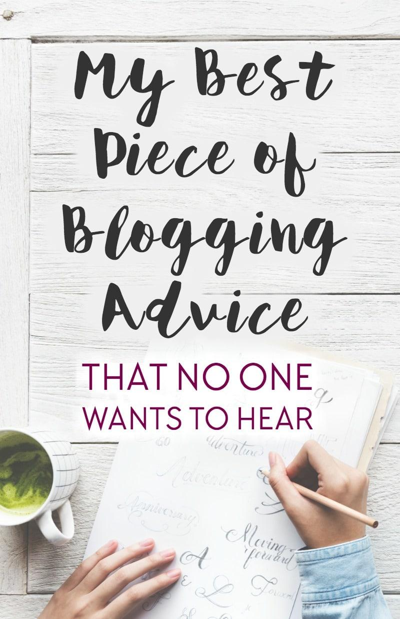 My best piece of advice for people wanting to run a professional blog as a business