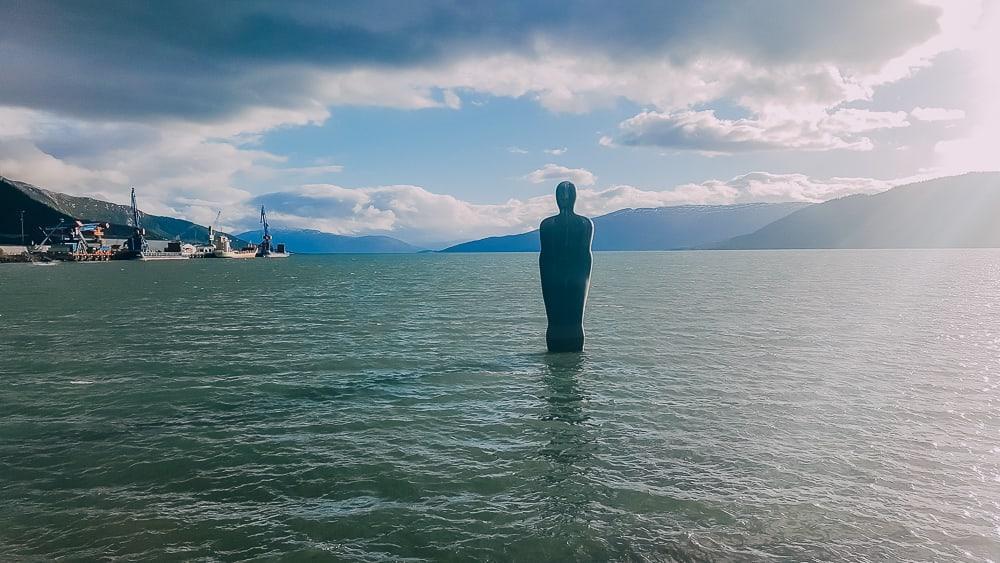 havmannen statue mo i rana helgeland