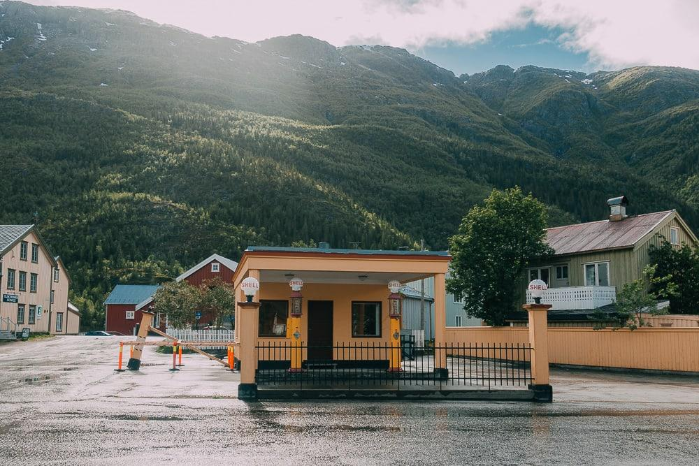 Mosjøen old shell gas station