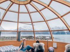 lyngen north glass igloo northern norway