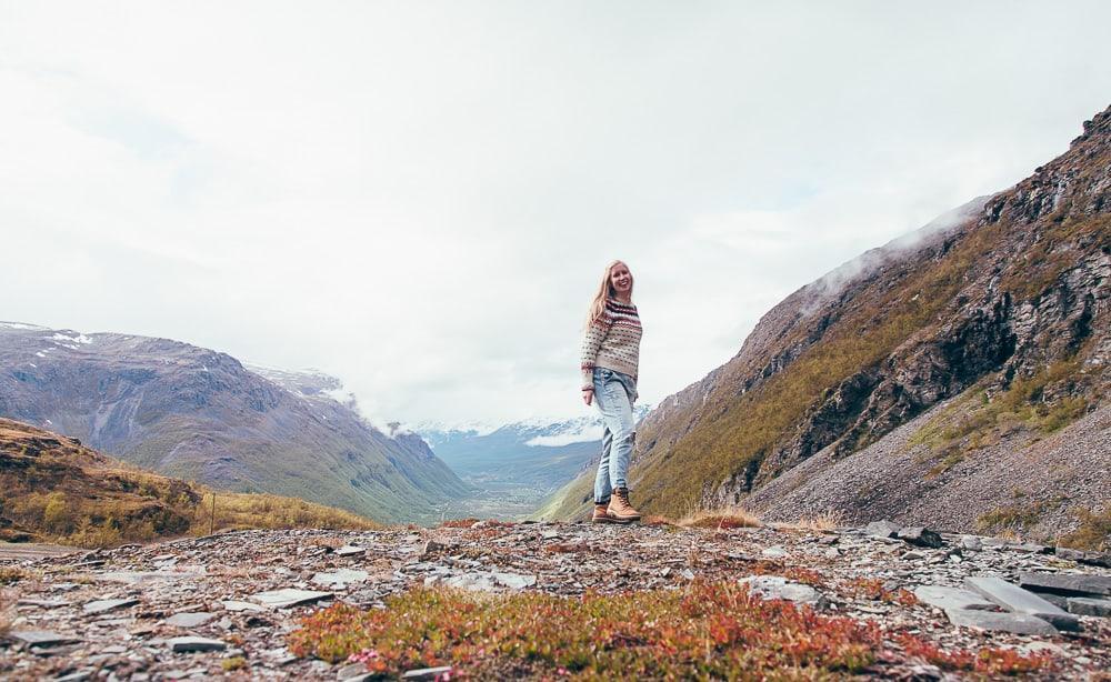 hiking in lyngen alps norway in june