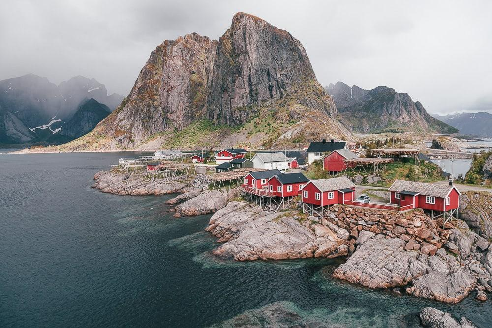 lofoten in june hamnoy norway