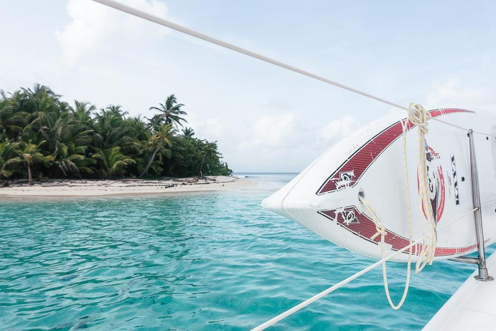 sailing in san blas panama catamaran