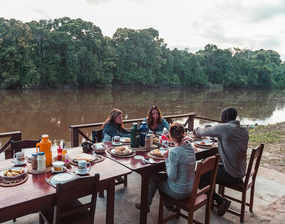 rewa eco lodge breakfast guyana