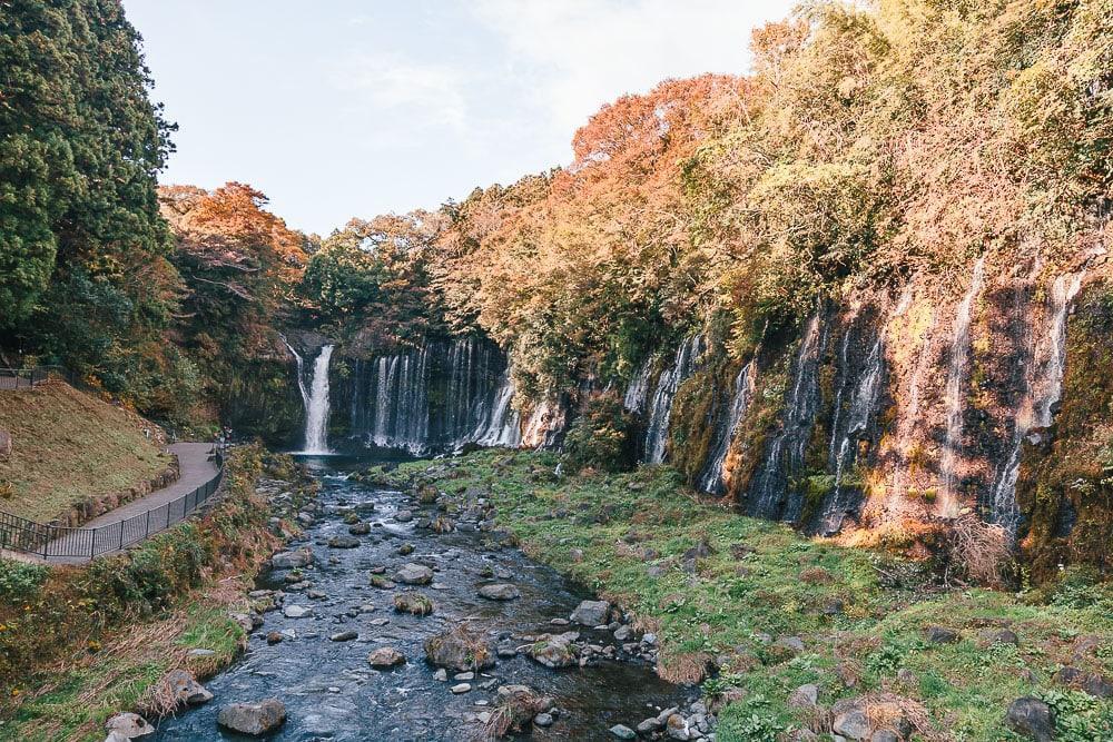 shiraito water falls fuji japan