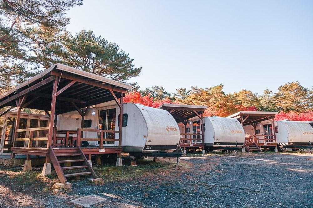 PICA Fuji Saiko camping site Japan