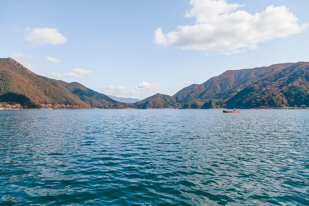canoeing fuji saiko lake pica camping japan