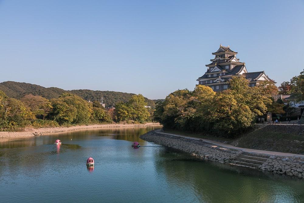 peach boats okayama castle japan
